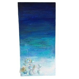 Original Ocean Mixed Media on Canvas Painting